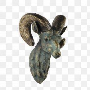 Goat Head Statue - Goat Sheep Statue Sculpture PNG