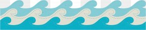 Wave - Turquoise Angle Pattern PNG