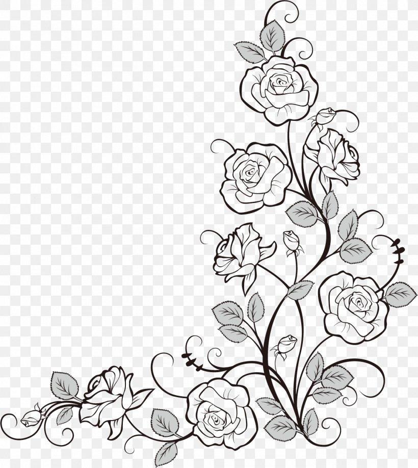 Doodle Coloring Book Flower Drawing Image, PNG, 1368x1533px, Doodle, Art,  Artwork, Beach Rose, Black Download Free