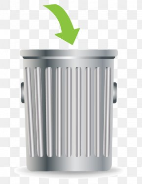 Vector Metal Trash Can - Waste Container Recycling Bin Paper PNG