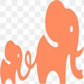 Elephant And Baby Elephant - African Bush Elephant Euclidean Vector PNG
