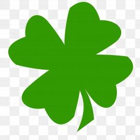 Lucky Symbols - Four-leaf Clover Shamrock Saint Patrick's Day Luck PNG