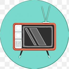 Rectangle Television Set - Blackboard Cartoon PNG