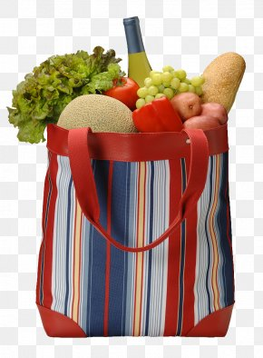 The Fruits And Vegetables In The Shopping Bag - Plastic Bag Organic Food Shopping Bag Vegetable PNG