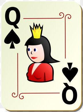 Ace Of Spades Clipart - Queen Of Hearts Playing Card Clip Art PNG