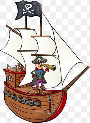 Pirate Ship Cartoon - Piracy St. Augustine Pirate & Treasure Museum Cartoon PNG