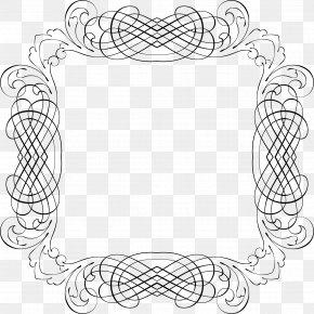 Line Frame - Line Art Drawing Clip Art PNG