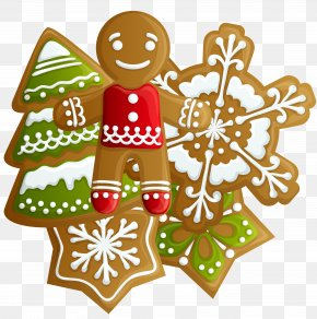 Transparent Christmas Gingerbread And Cookies Clipart - Icing Cuccidati Christmas Cookie PNG