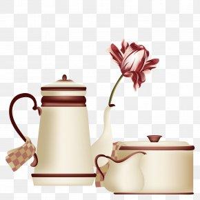 Vector Teapot Tea Set - Teapot Coffee Cup Mug Drawing PNG