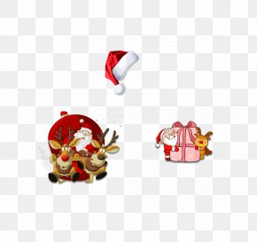 Christmas Friends - Pxe8re Noxebl Santa Claus Reindeer Christmas Sticker PNG
