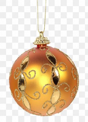 Golden Decoration Balls - Christmas Ornament Christmas Decoration Stock Photography Clip Art PNG