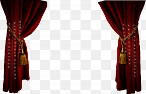 Stage Curtains Clipart - Window Treatment Window Blind Curtain Clip Art PNG