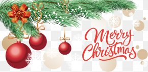 Gold Circle Background Christmas Banner - Christmas Tree Christmas Ornament Banner PNG