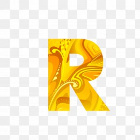 The Golden Letters R - Letter Computer File PNG