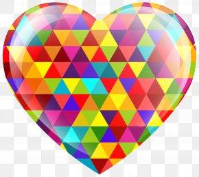 Multicolor Heart Clip Art Image - Heart Telegram Clip Art PNG