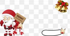 Vector Santa Claus And Gift Boxes - Santa Claus Gift Christmas Ornament Christmas Tree PNG