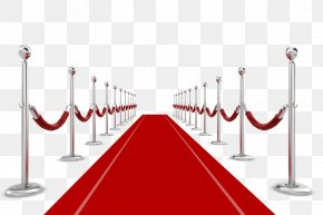 Silver White Fence With A Red Carpet - Carpet Clip Art PNG