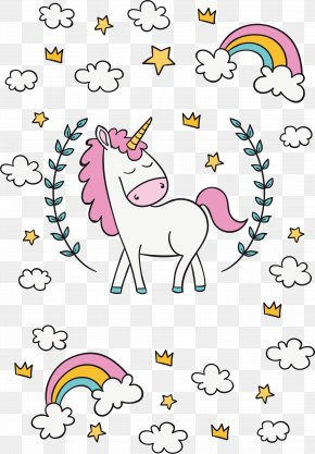 The Unicorn Under The Rainbow - Unicorn Clip Art PNG