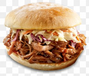 Pork - Pulled Pork Hamburger Barbecue Grill Coleslaw French Fries PNG