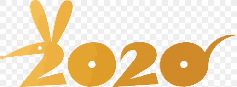 Happy New Year 2020 Happy 2020 2020, PNG, 3943x1466px, 2020, Happy New Year 2020, Happy 2020, Logo, Orange Download Free