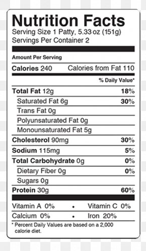 Food Label - Nutrition Facts Label Food Gluten-free Diet PNG