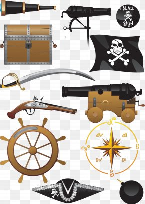 Vector Painted Pirate Supplies - Piracy Royalty-free Clip Art PNG