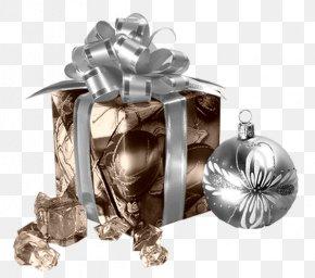 Silver Ribbon Gift Box - Christmas Gift-bringer Christmas Gift-bringer PNG