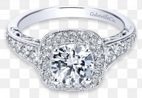 Ring Halo - Engagement Ring Jewellery Gold Diamond PNG