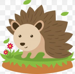 A Small Hedgehog On The Grass - Hedgehog Animal Clip Art PNG