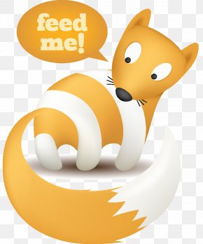 Fox Cute Animal Theme Subscribe To Rss Icon Vector Material
