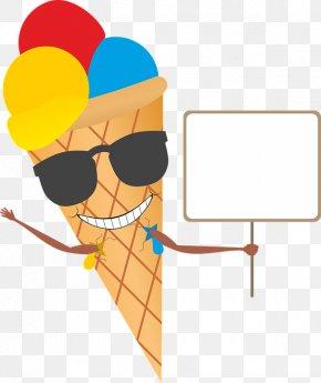 Ice Cream Party - Ice Cream Cones Waffle Gelato Clip Art PNG