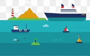Sea Transport Vector - Graphic Design Transport Cargo Ship PNG