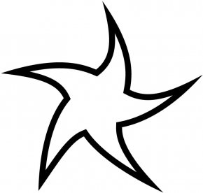 Star Line Art - Star Curve Line Point Clip Art PNG
