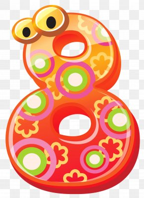 Cute Number Eight Clipart Image - Number Clip Art PNG