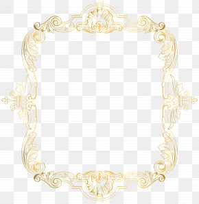 Vintage Border Frame Gold Clip Art Image - Text Picture Frame Yellow Pattern PNG