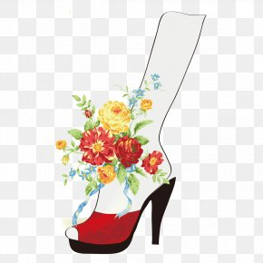 Flowers And Shoes - Flower Bouquet Stock Photography Clip Art PNG