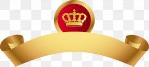 Golden Crown Ribbon - Logo Icon PNG