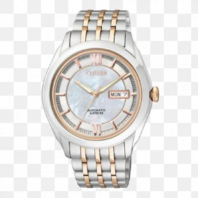 Mother Of Pearl Dial Mechanical Watches Citizen - Apple Watch Series 2 Citizen Holdings Strap Clock PNG