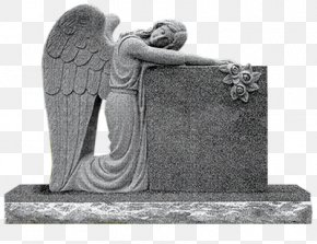 Cemetery - Headstone Angel Of Grief Memorial Monument Cemetery PNG