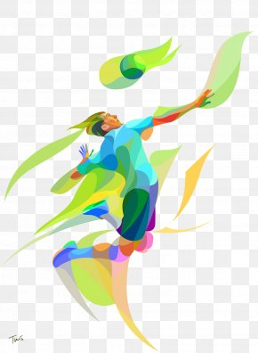 Playing Volleyball Players Colored Blocks - 2016 Summer Olympics Beach Volleyball 4K Resolution Wallpaper PNG