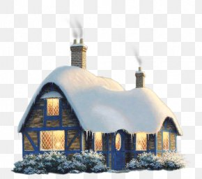 Transparent Snowy Winter House Clipart - Gingerbread House Clip Art PNG
