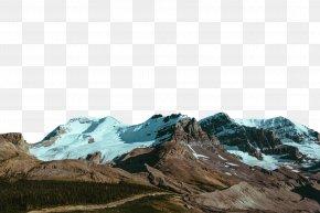 Snowy Mountains - Canvas Print Glacial Landform Mountain Mond Xc3u0153ber Den Bergen Big Box Art PNG