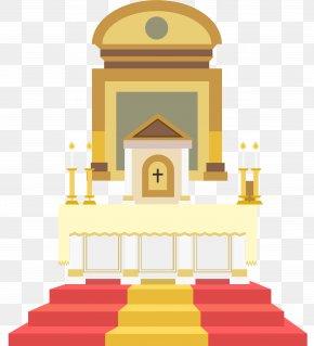 Church Prayer Station - Altar In The Catholic Church Illustration PNG