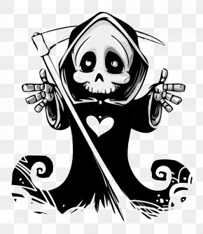 Ghost Vector - Death Calavera Skull Hug Ghost PNG