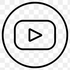 Subscribe Youtube Button - YouTube Line Art PNG