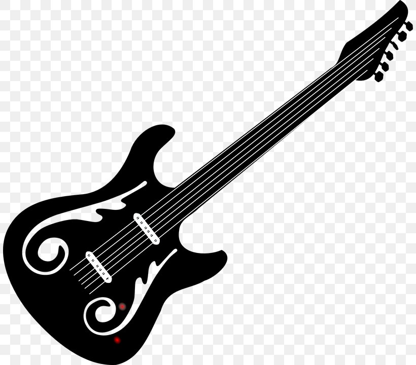 Bass Guitar Black And White Electric Guitar Clip Art Png 808x720px Watercolor Cartoon Flower Frame Heart