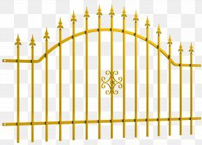 Fence - Fence Metal Gate Wrought Iron OBI PNG