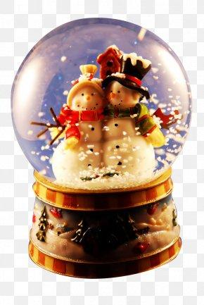 Crystal Snowman - Christmas Ornament Crystal Ball Snow Globes PNG