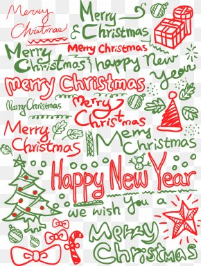 Merry Christmas Background Letters - Happy New Year PNG