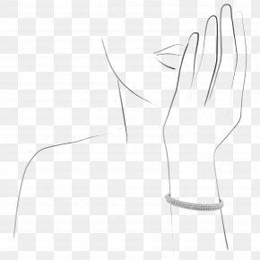 M Product DesignBeadwork Design - Thumb Paper Black & White PNG